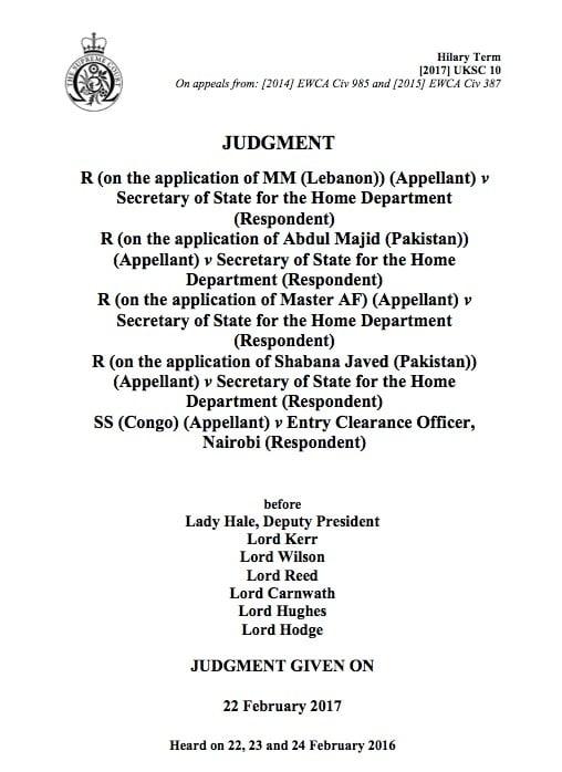 MM Majid Javed v SSHD UK Supreme Court Judgment LEXVISA Immigration Lawyers London