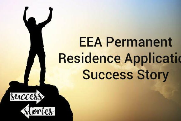 EEA Document Certifying Permanent Residence Success Story