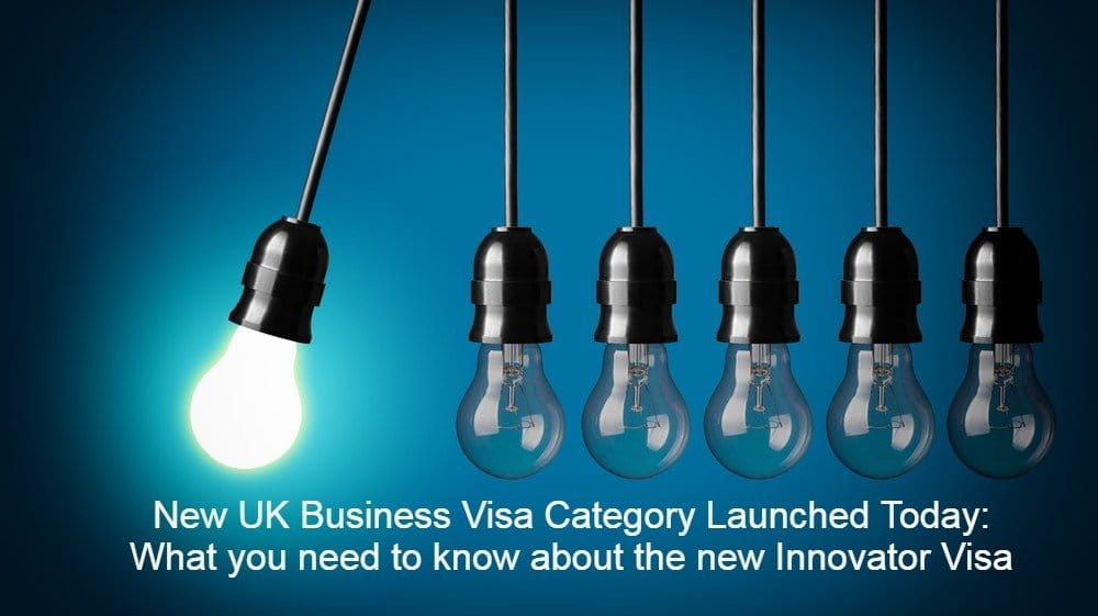 New UK Business Visa Category Launched Today What you need to know about the new Innovator Visa LEXVISA Business Immigration Lawyers London