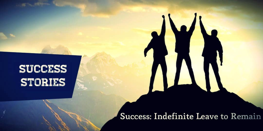 Success Story Indefinite Leave to Remain application