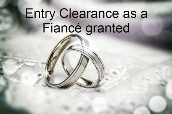 Success Story: Entry Clearance as a Fiancé granted