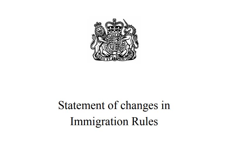 Statement of Changes in Immigration Rules Appendix W EU Settlement Scheme