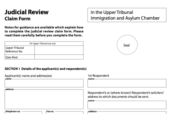 Immigration Judicial Review Applications Home Office Appeals Upper Tribunal Administrative Court Pre Action Protocol Hearing